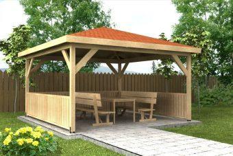 Záhradný altánok 4x4m drevený