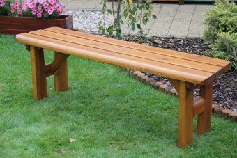 Záhradná lavička bez opierky FINLAND