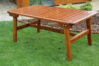 Záhradný stôl veľký GOLD