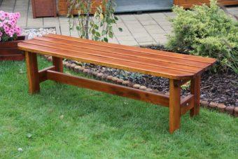 Záhradná lavička bez opierky