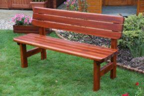 Záhradná borovicová lavica Rovná