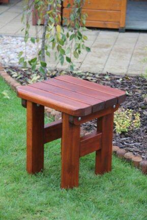 Záhradná borovicová mini stolička Rovná