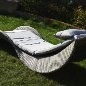 Záhradné lehátko Rimini - šedé