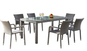 Jedálny stôl Barcelona - šedý