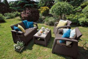 Corfu záhradné sedenie hnedá