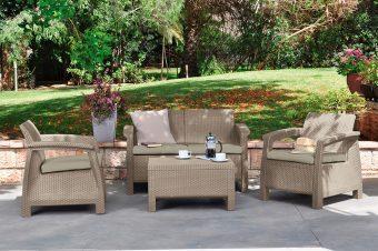 Záhradné sedenie Corfu cappuccino