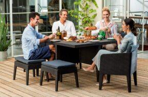 Ratanové záhradné sedenie