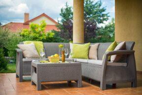 Záhradný nábytok Corfu relax umelý ratan cappuccino