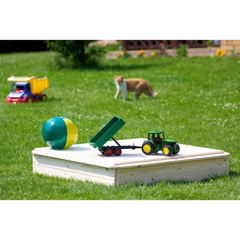 Záhradné pieskovisko 120x120cm - s krytom