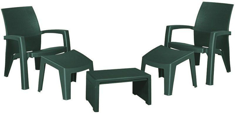 Plastové záhradné sedenie