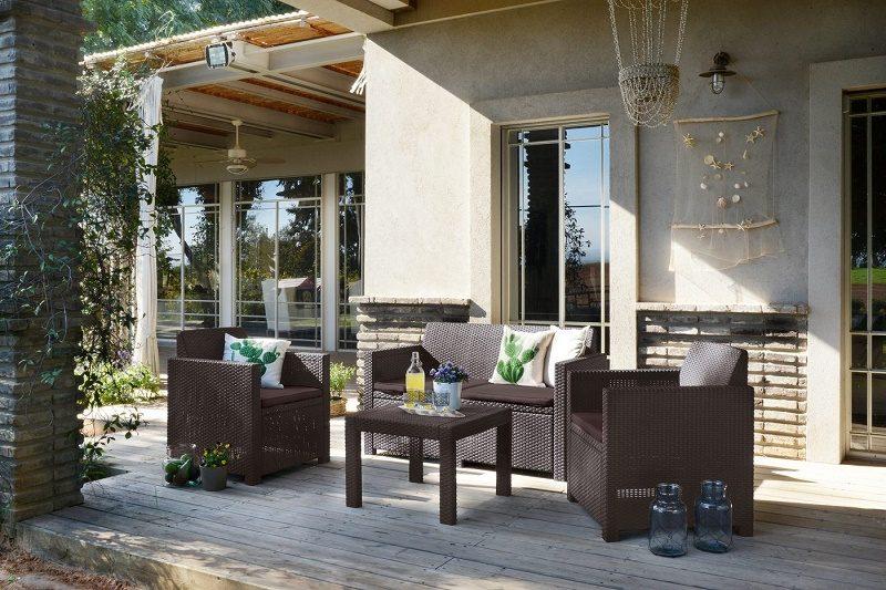Záhradné sedenie umelý ratan