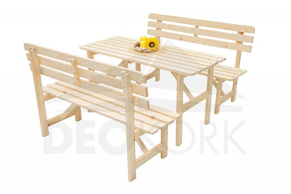 ca70227b3b36 Masívna záhradná zostava z borovice 1+2 - 22 mm drevo