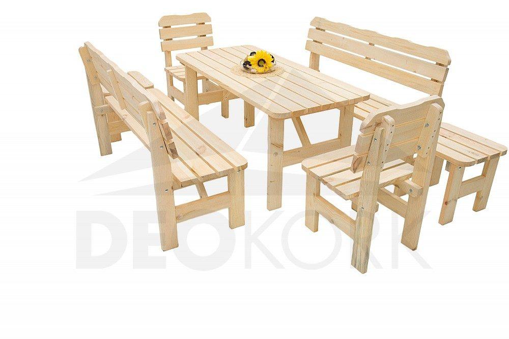 f9d57d73c649 Masívna záhradná zostava z borovice 1+6 – 32 mm drevo