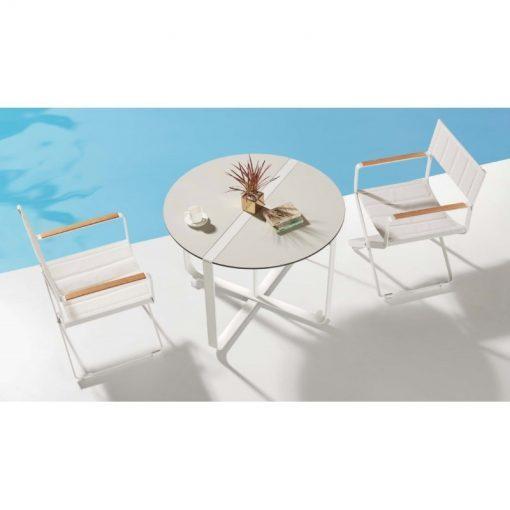 CLINT - sedenie pre 2 osoby biele