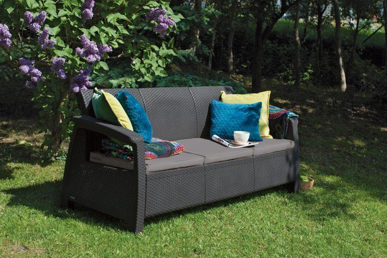 Záhradná ratanová sedačka