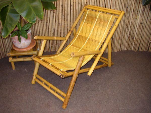 Bambusové lehátko natural
