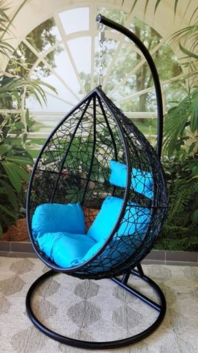 Relaxačné kreslo Tara - modrý sedák