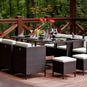 Stolový záhradný nábytok CRISTALLO GRANDE