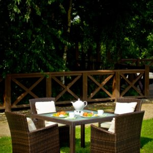 Ratanový záhradný set PAZZO pre 4 osoby