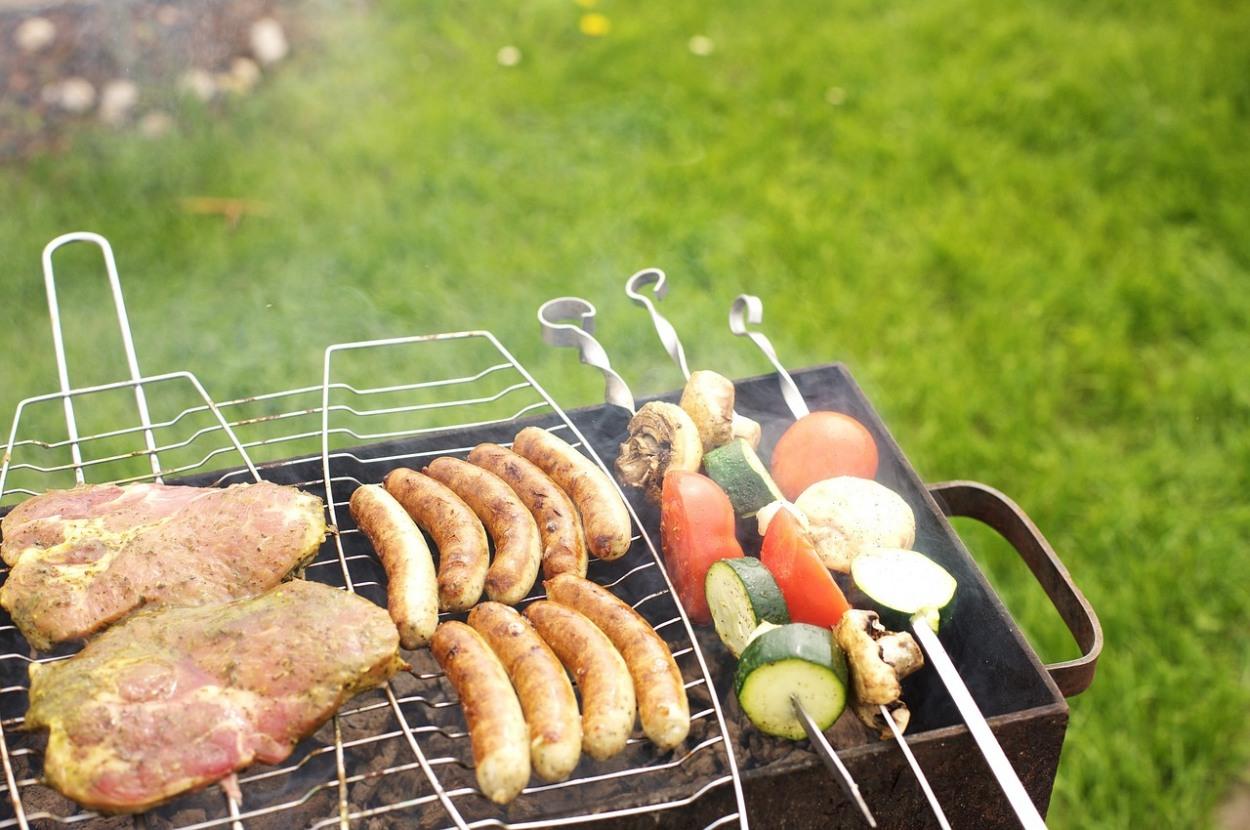 grilovanie masa a zeleniny