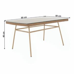 Ratanový stôl Tajro