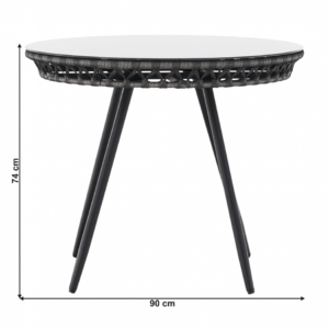 Ratanový stôl Habik
